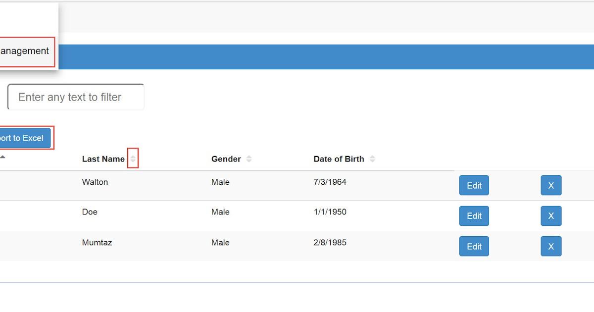 Yasser's Blog - fullstackhub io: Angular 4 Data Grid with Sorting