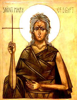 Icône de Sainte Marie l'Égyptienne