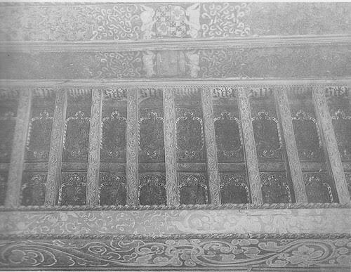 Alfarje del Convento de Santa Fe a inicios del siglo XX