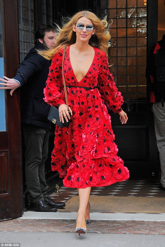 Catwalk style: Blake started off her day at one fashion show so maybe she was headed to another one