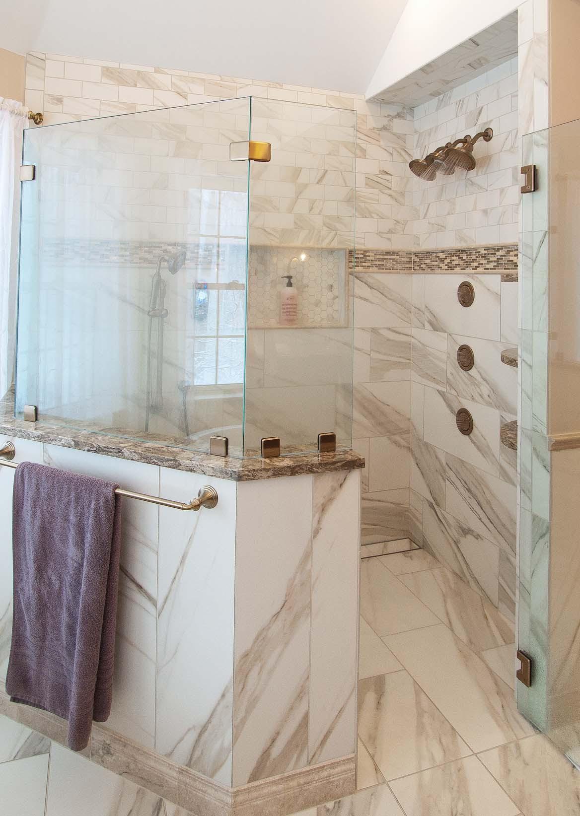 Custom Shower In Master Bath Dilworth S Custom Design House Home Magazine