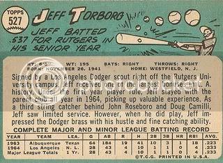 #527 Jeff Torborg (back)