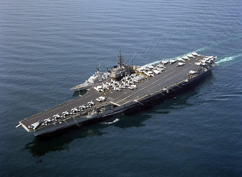 File:USS Ranger (CV-61) conducting an underway replenishment of the Dutch frigate F812 Jacob Van Heemskerck during Operation Desert Shield 2.JPEG