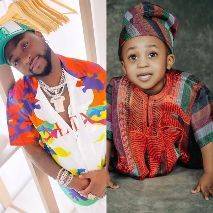 Davido shares new photos of his son with Chioma to celebrate him as he turns 2