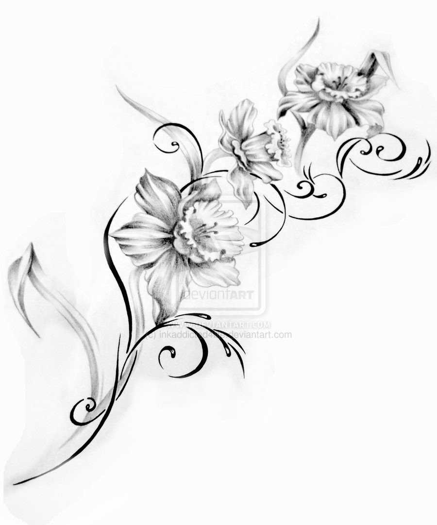 Orchid Flower Tattoo Drawing Flowers Healthy