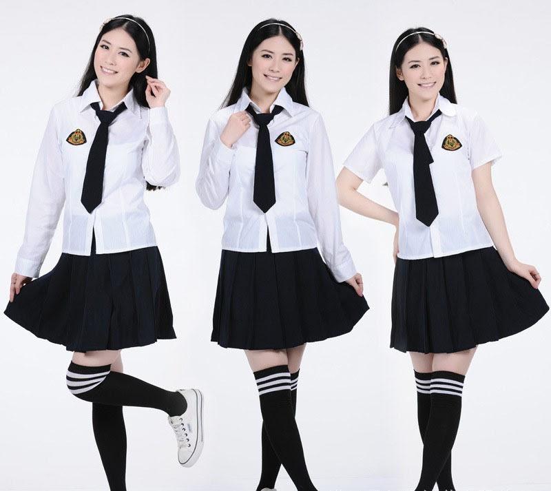 váy đồng phục học sinh hàn quốc
