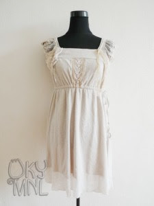 Off White Dress with Beige Accent