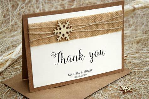 Winter Wedding Thank You Card, Christmas Wedding Thank You