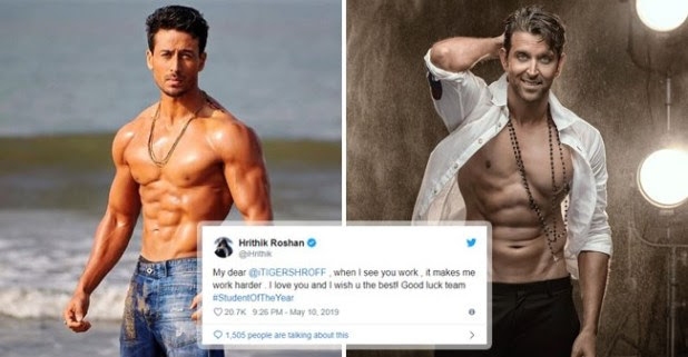 Hrithik Roshan Posted a Love-Filled Tweet Praising Tiger Shroff for His Excellent Acting in SOTY 2