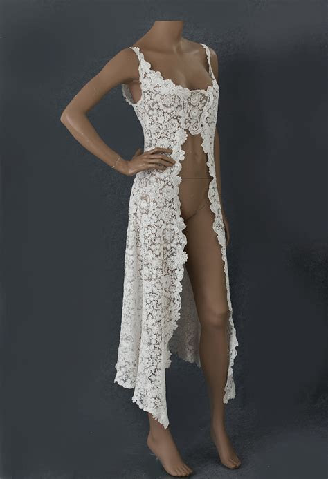 #2840 Brussels handmade Duchesse lace overdress at