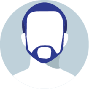 Icon of a faceless man with a goatee
