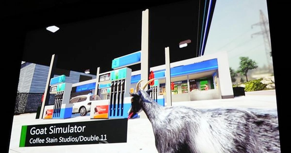 Goat Simulator Is Coming To Xbox One Yes Thats A Real