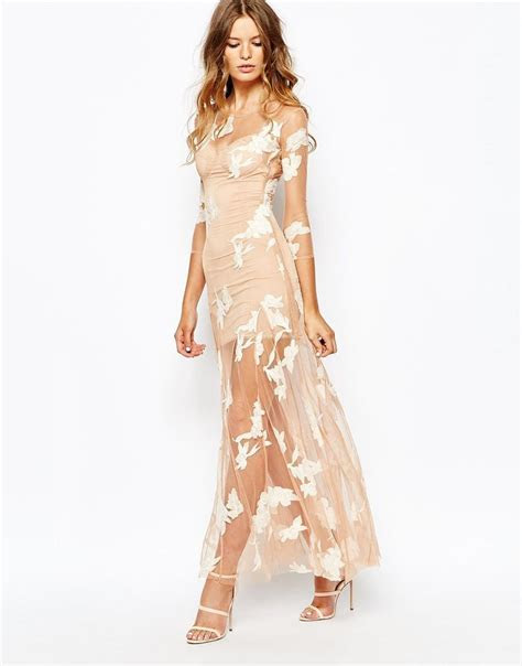 Image 1 of For Love and Lemons Orchid Maxi Dress   Sea