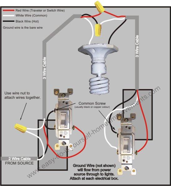 Three way switch wiring