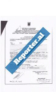 Certifikata e pronësisë së Gent Prizrenit në vitin 2013.