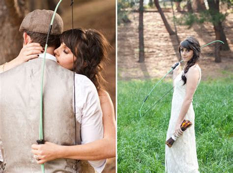 A Hunger Games Styled Wedding   Green Wedding Shoes