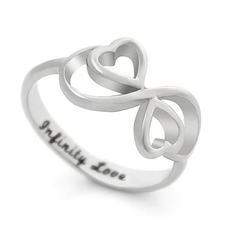 TZARO JEWELRY   Lovers Ring, Infinity Ring, Double Hearts