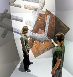 Representación digital de las excavaciones en Jordania. (Foto: PNAS)