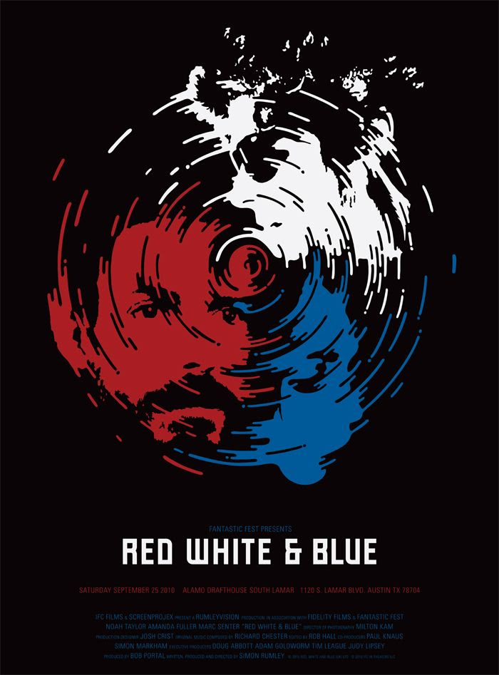 Risultati immagini per red white and blue movie poster