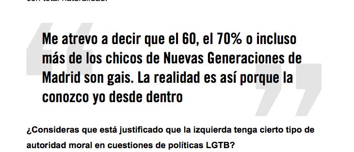 Luis, 26 años, militante del PP