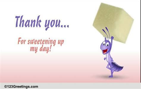 Thank You For Sweetening It Up! Free Congratulations