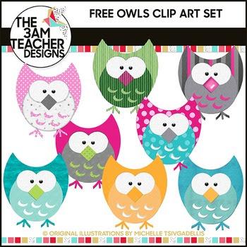 Five Little Owls: FREE Clip Art!!