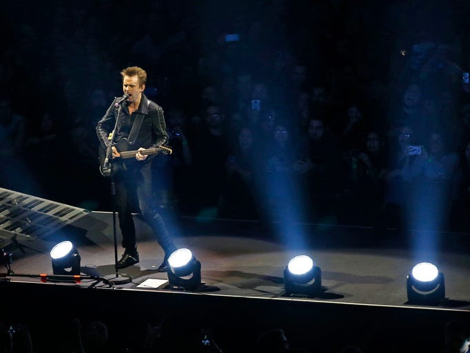 Matthew Bellamy of Muse performs their Drones Tour