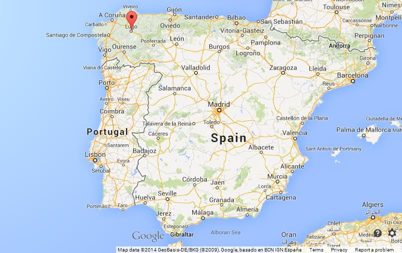 Lugo On Map Of Spain