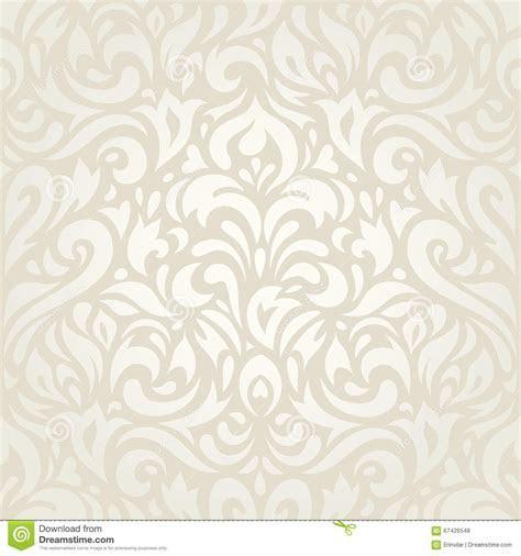 Wedding Vintage Floral Ecru Wallpaper Background Design