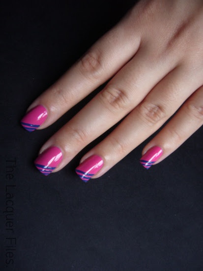 Barry M Limited Edition Pink with Stripes