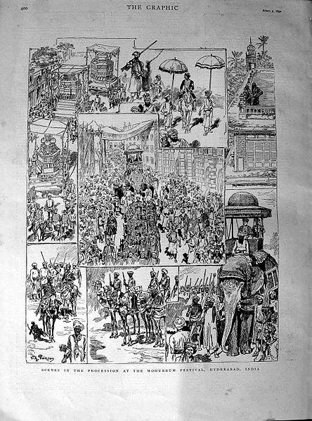 File:Scenes in the procession at the Mohurrum festival.jpg