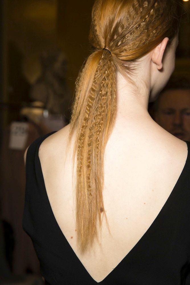 Le Fashion Blog - Hair Inspiration: Crimped Ponytails at Stella McCartney S/S 2015 -- Red Head Ponytail Via Vogue UK photo 4-Le-Fashion-Blog-Hair-Inspiration-Crimped-Ponytails-Stella-McCartney-SS-2015-Red-Head-Ponytail-Via-Vogue-UK.jpg