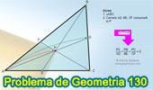 Problema de Geometría 130. Triangulo, Cevianas Concurrentes, Suma de Razones, Semejanza.