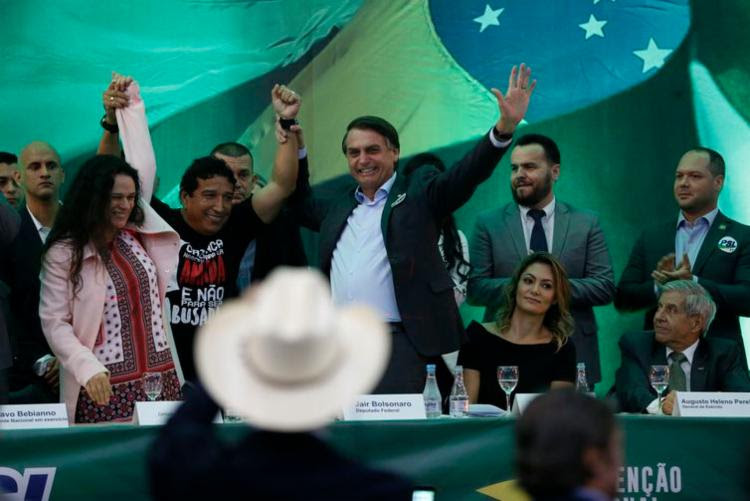 PSL lança candidatura de Jair Bolsonaro à Presidência da República | Foto: Fernando Frazão | Agência Brasil