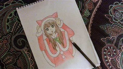 anime cute drawings easy girl drawing group fepaexorg