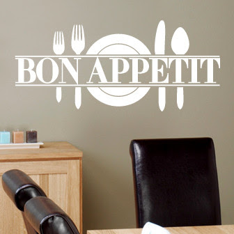 Bon Appetit Wall Decal | DecalMyWall.