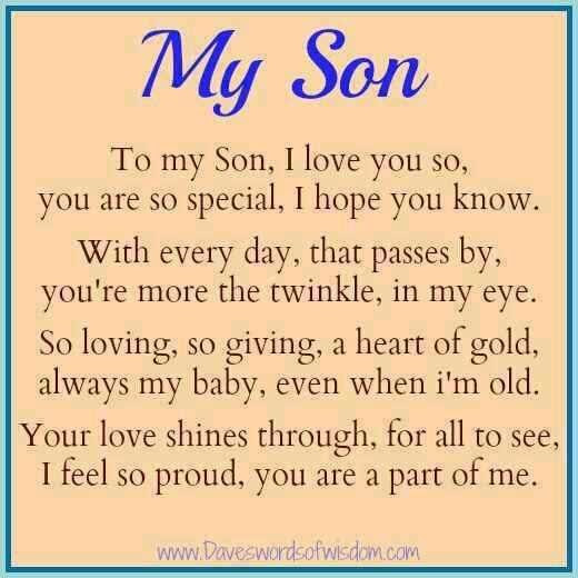 Proud Mom To Son Quote Quote Number 691903 Picture Quotes