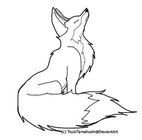 fox drawing outline google search kw fox drawing