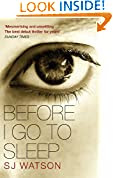 Before I Go To Sleep by S J Watson book cover image