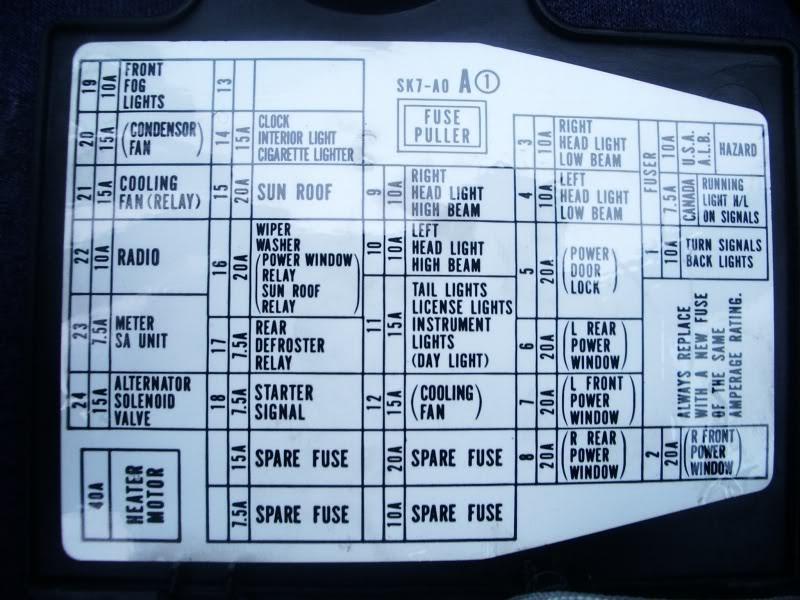 90 Integra Fuse Box Diagram