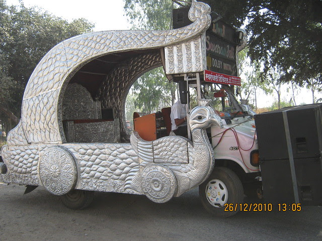 Musical Car for the Bride & Groom!  - Mahavir Natura, almost Ready for Possession 1 BHK & 2 BHK Flats at Talegaon MIDC Junction on Old Mumbai Pune Highway (NH4) at Vadgaon Maval, Pune 412 106