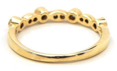 Stackable Ladies 14k Yellow Gold Diamonds Wedding Ring