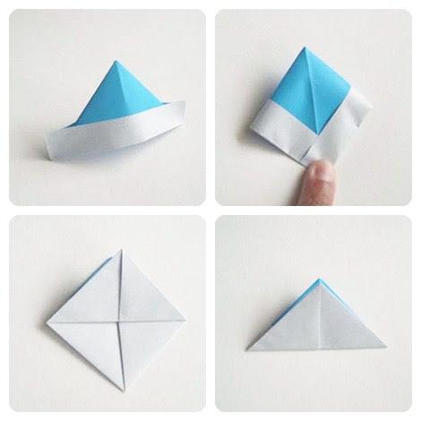 barcos de papel origami