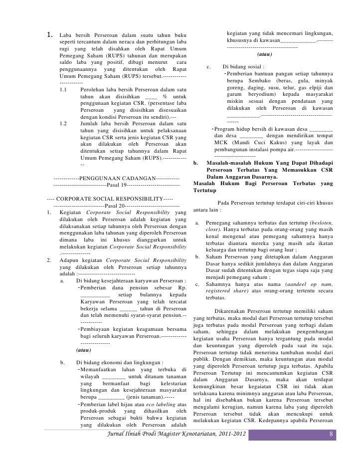 Contoh Jurnal Csr - Contoh 43