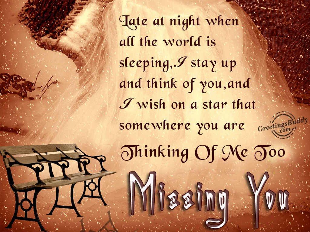 Missing You Greetingsbuddycom