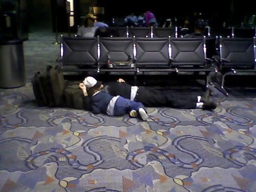 Oak airport dad n son
