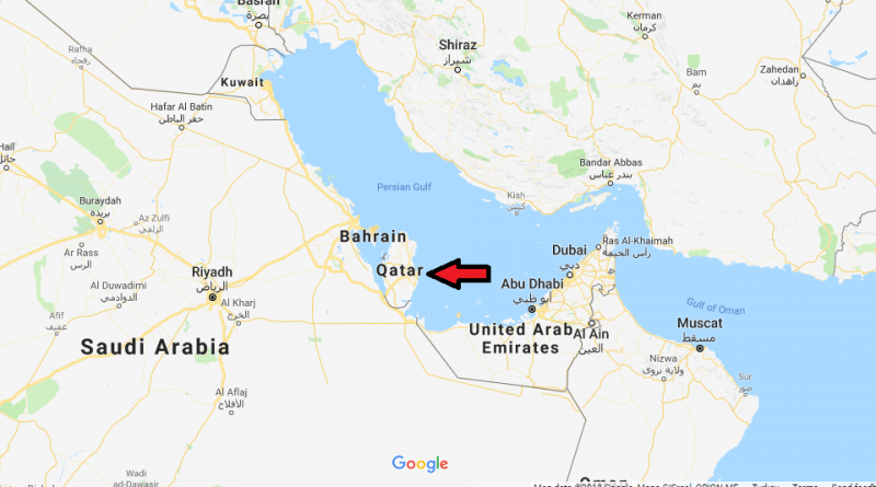 Where is Qatar Located On The World Map 800x445