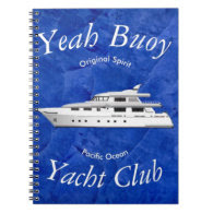 Yacht Club Yeah Buoy Spiral Note Books