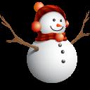 Natal, homem da neve ícone