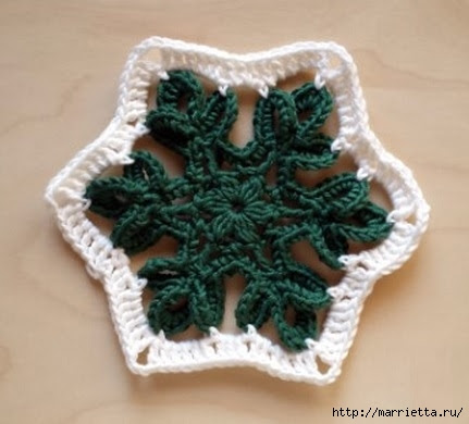 Crochet.  Tack with volume rose (2) (431x390, 89Kb)
